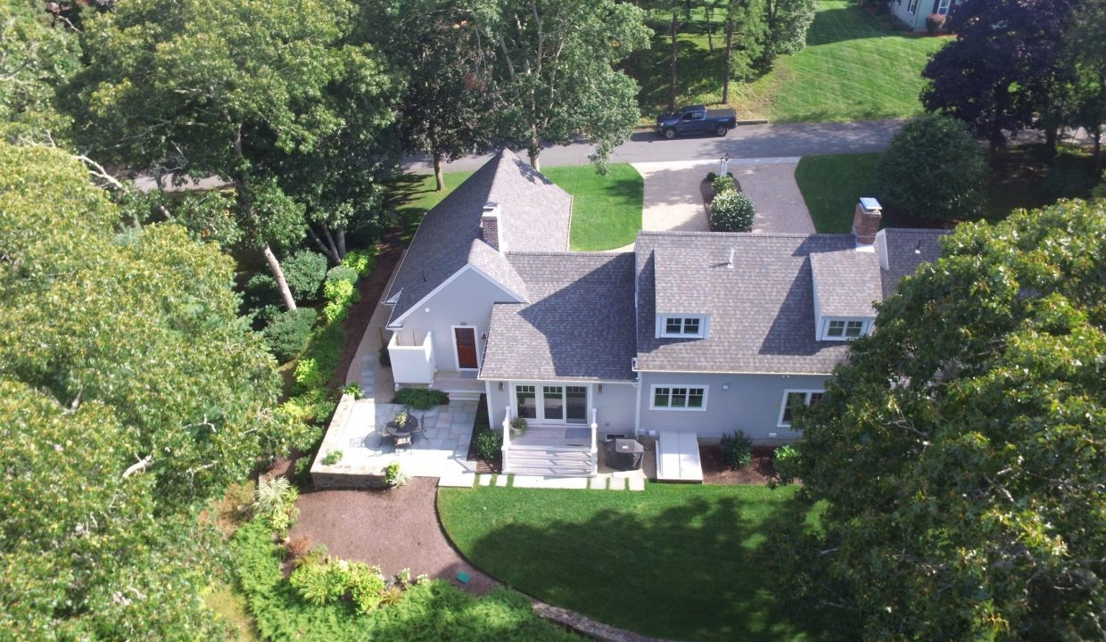 Arial view of a large house