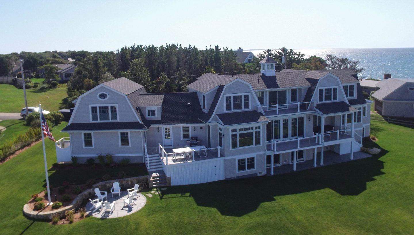 Arial view of a very large home