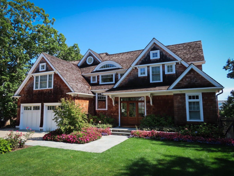 House with cedar shingles